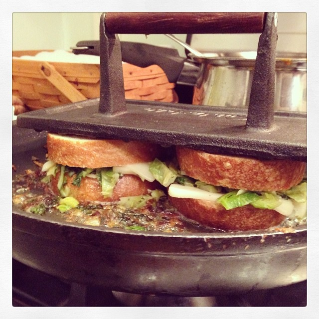 Brussels Sprout Sandwiches