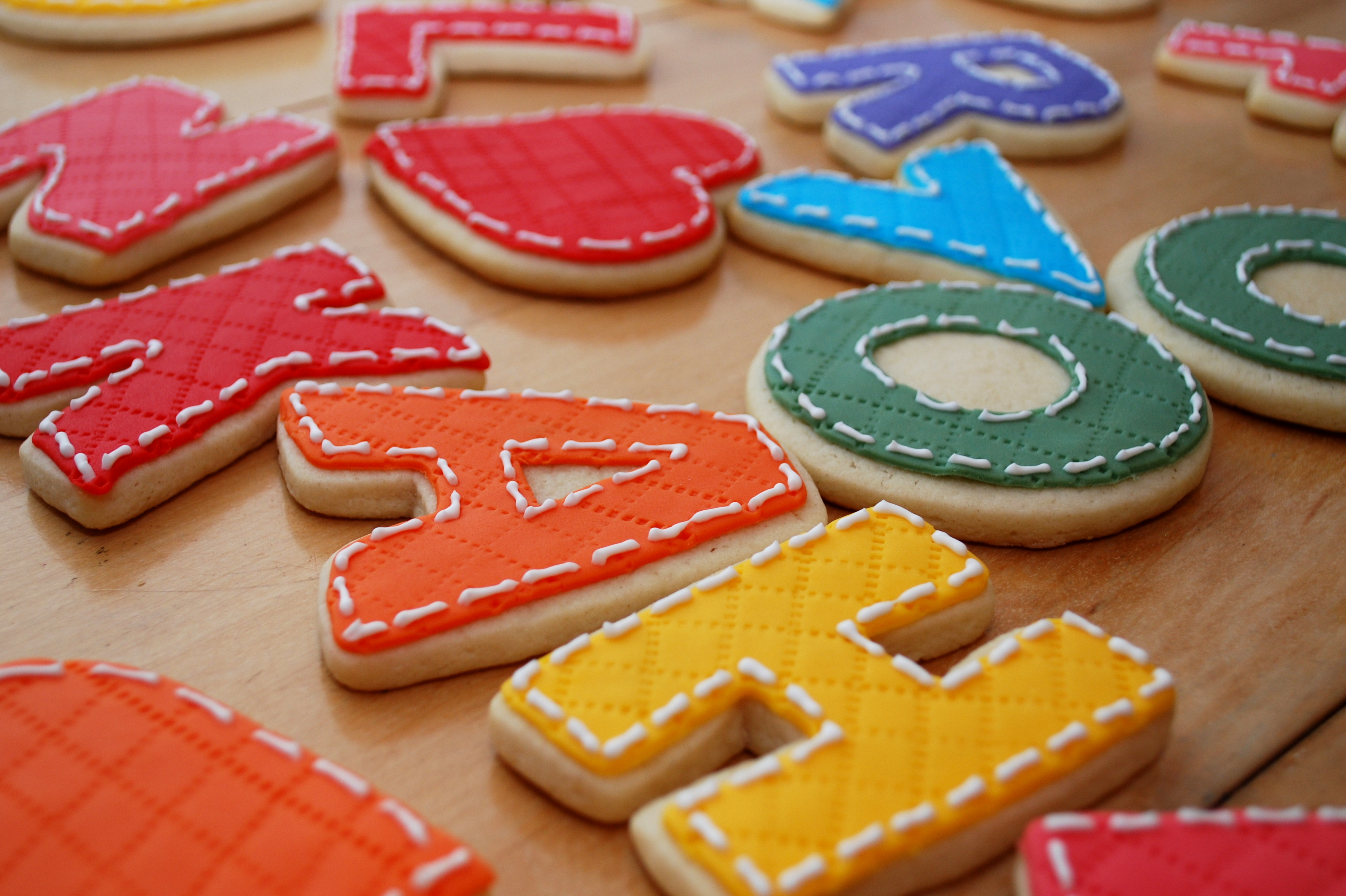 quilt cookie letters