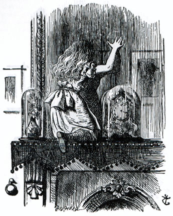 alice-entering-the-looking-glass-world-by-sir-john-tenniel