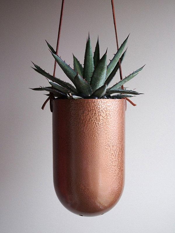 Hanging-copper-succulent-planter