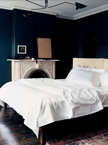 melanie acevedo dark blue bedroom